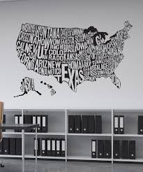 kid friendly vinyl wall decal sticker united states map 1275
