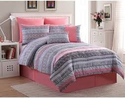 Girls Bed In A Bag by 8pc Queen Bed In A Bag Comforter Set Abstract Chevron Girls