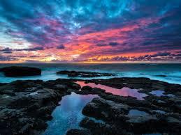 wallpaper of the week colorful coastal sunset gizmo u0027s freeware