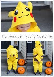 Pikachu Halloween Costume Kids Homemade Pikachu Costume