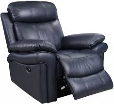 Navy Blue Leather Club Chair Shae Joplin Blue Leather Power Reclining Chair