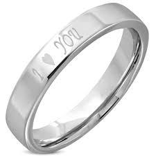 karikagyuru rak ezüst színű i you feliratos nemesacél gyűrű 6