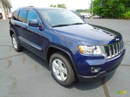 light blue jeep grand cherokee 2013 true blue pearl jeep grand cherokee laredo x package 4x4