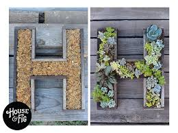 Hanging Succulent Planter by Wedding Idea Wall Mounted Succulent Letter Diy True Love