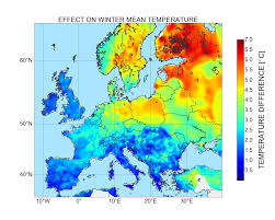 Europe Temperature Map by Recent Scientific Highlight