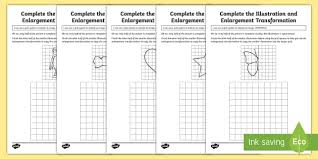 complete the illustration and enlargement transformation activity