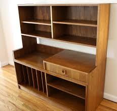 mid century modern expanding media bookcase desk unit picked vintage