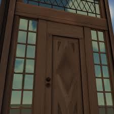 ornament wood door hi detail 3d model cgtrader