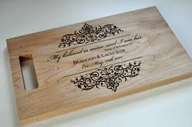 custom cutting board laser engraved 8x14 personalized wood zoom