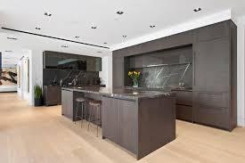 modern kitchen with brown cabinets modern kitchen with brown cabinets and backsplash