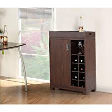 8 bottle brown bar cabinet zh141191 the home depot