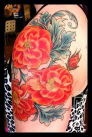 my first tattoo rose and filigree quarter sleeve by alice