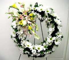 types of flower arrangements three types of easel mounted funeral wreaths california flower art