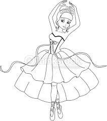 ballerina coloring vector art thinkstock