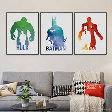 2017 original 3d geometric abstract super hero batman hulk pop 2017 original 3d geometric abstract super hero batman hulk pop movie canvas a4 print poster wall picture home decor painting no frame from shengzhenming