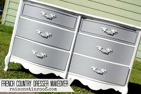 Painting Furniture White by French Country Dresser Makeover Diy Chalk Paint