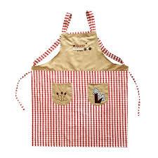 tabliers blouse et torchons de cuisine mode tablier de cuisine homme femme broderie coton à carreaux