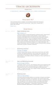 resume for internship sles student work digital marketing intern resume sles visualcv resume sles