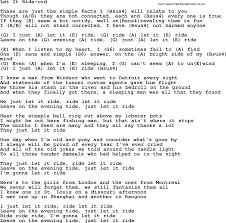 Light One Candle Lyrics Let It Ride By Gordon Lightfoot Lyrics And Chords
