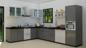 modern efficient l shaped kitchen designs for small space with