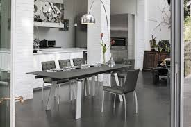 contemporary dining table glass metal tempered glass marte