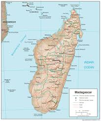 Africa Map Physical by Madagascar Maps