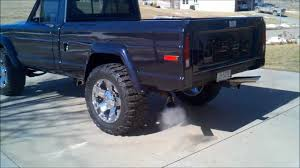 midnight blue jeep jeep j 10 exhaust sound youtube