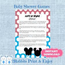 gender reveal left or right baby shower game instant