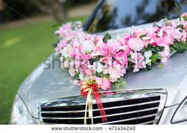 How To Decorate A Wedding Car With Flowers Wedding Car Decoration Stock Images Royalty Free Images U0026 Vectors