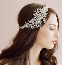 hair beading handmade new 2015 bridal hair crown flower rhinestone headbans