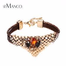 aliexpress buy new arrival cool charm vintage emanco women cool leather bracelet vintage nostalgia style triangle