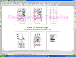 house plans design format dwg autocad floor plan template building