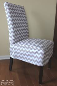 slipcovers for chair chevron parsons chair cover thinking of doing this in my dining