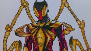 drawing spiderman civil war costume marvel comics youtube