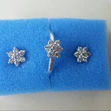 rositas earrings set ring earrings rositas style in 14kt white gold preloved