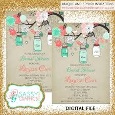 mint to be bridal shower rustic bridal shower invitation bridal shower invite jar