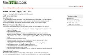 the fresh grocer job application apply online