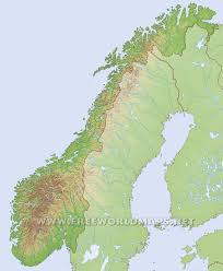Free World Maps by Norway Physical Map
