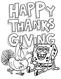spongebob and turkey coloring page h m coloring pages