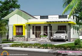 small house elevation with 3d rendering and 2d drawing kerala