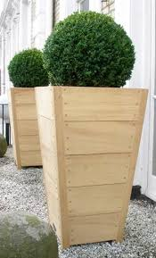 tapered wood planters gardening group board pinterest