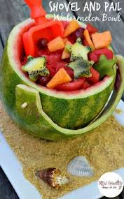 what a fun and simple idea for fruit salad this shovel and pail
