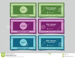 Cool Frame Designs Cool Color Business Name Card With 3d Frame Design Mockup Set Ve