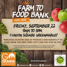 go orange to end hunger food bank for new york city