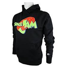 space jam sweater starter space jam logo hoodie basketball sweatshirt black xl