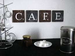 deco cuisine murale cuisine lettres dã coratives cafe pour une dã coration murale de