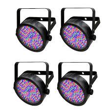 chauvet slimpar 56 led light chauvet slimpar 56 par style rgb led lighting fixture 4 pack buy