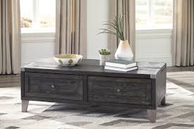 Coffee Tables With Drawers by Ashley Furniture Todoe Dark Gray Finish Lift Top Coffee Table With