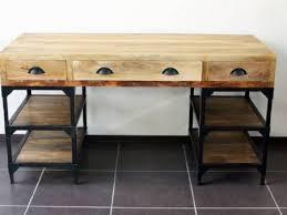 bureau bois occasion bureau bois metal finest grand etabli industriel bureau metal et