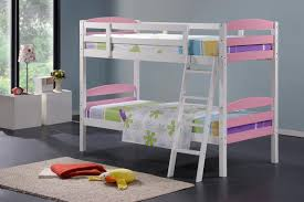 Cosmos White  Pink Single Bunk Beds NZ Lifestyle Imports - Pink bunk bed